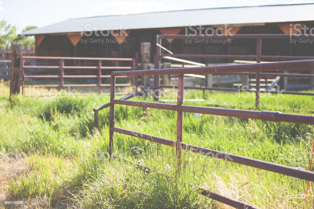 Western Colorado Outdoors Farm and Ranch stock photo