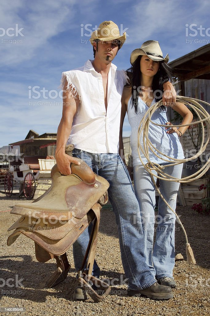 Western Couple royalty-free stock photo