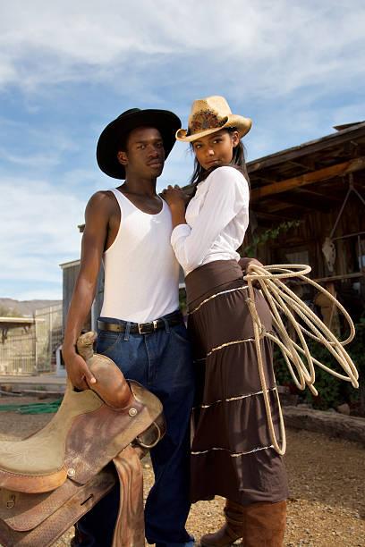Western Couple stock photo