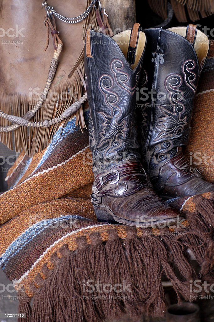 Western Cowboy Boots stock photo