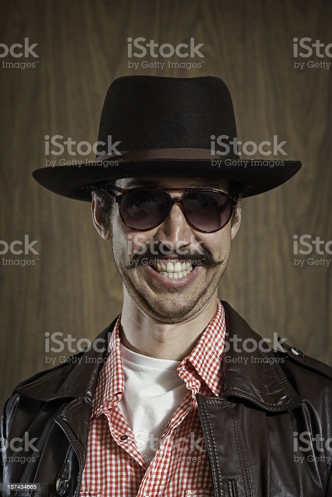 Western Cowboy with Mustache stock photo