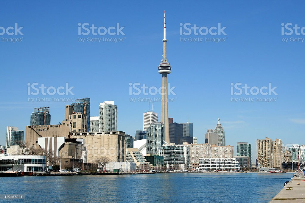 Western entrance to Toronto harbour stock photo