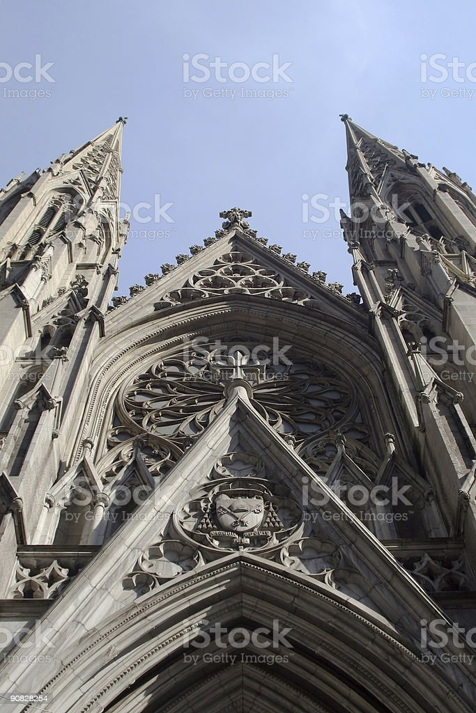Western Facade of St. Patrick's Cathedral royalty-free stock photo