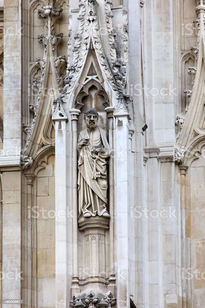 Western facade, Westminster Abbey, London stock photo