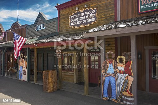 Replica of Old West Frontier Town at Entrance to Bryce Canyon National Park, Utah, United States of America
