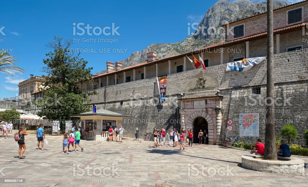 Western (Sea) gate of the Old City stock photo