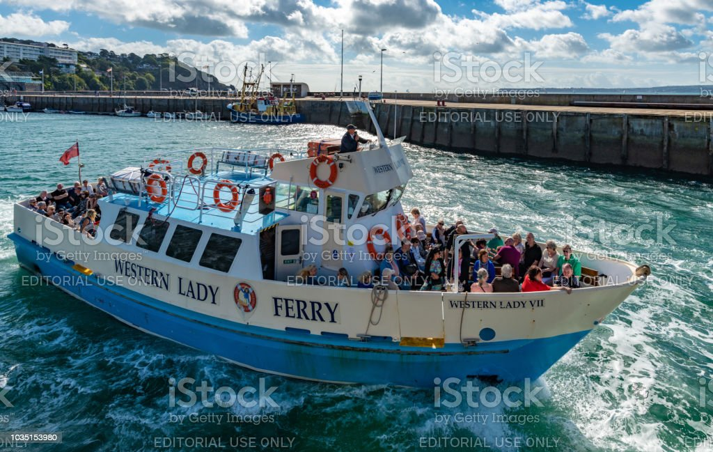 Western Lady Ferry leaving Torquay stock photo