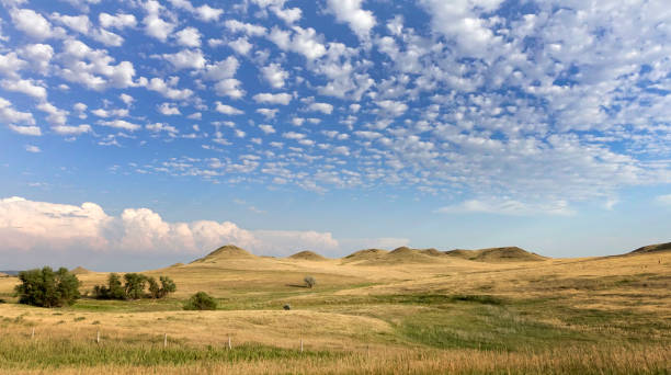 western landscape - great plains stock photos and pictures