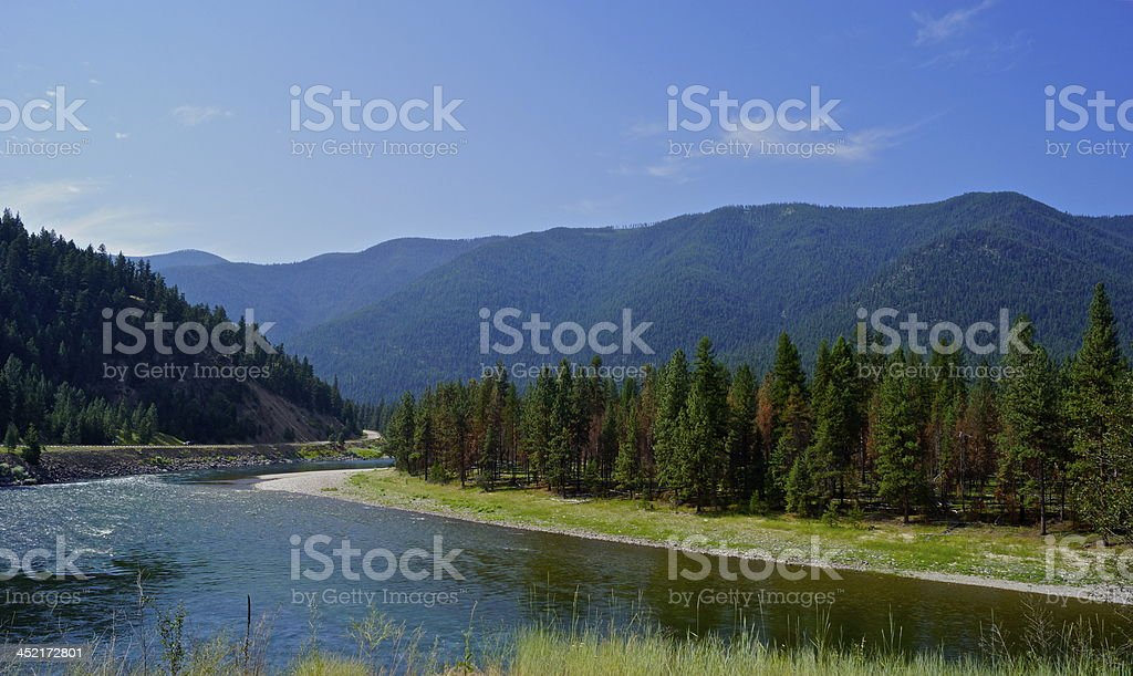 Western Montana River stock photo