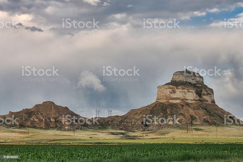 Western Nebraska Bluffs stock photo