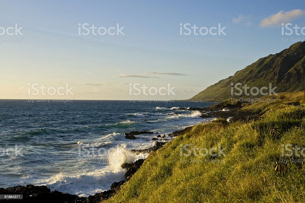 Western Oahu coastline stock photo
