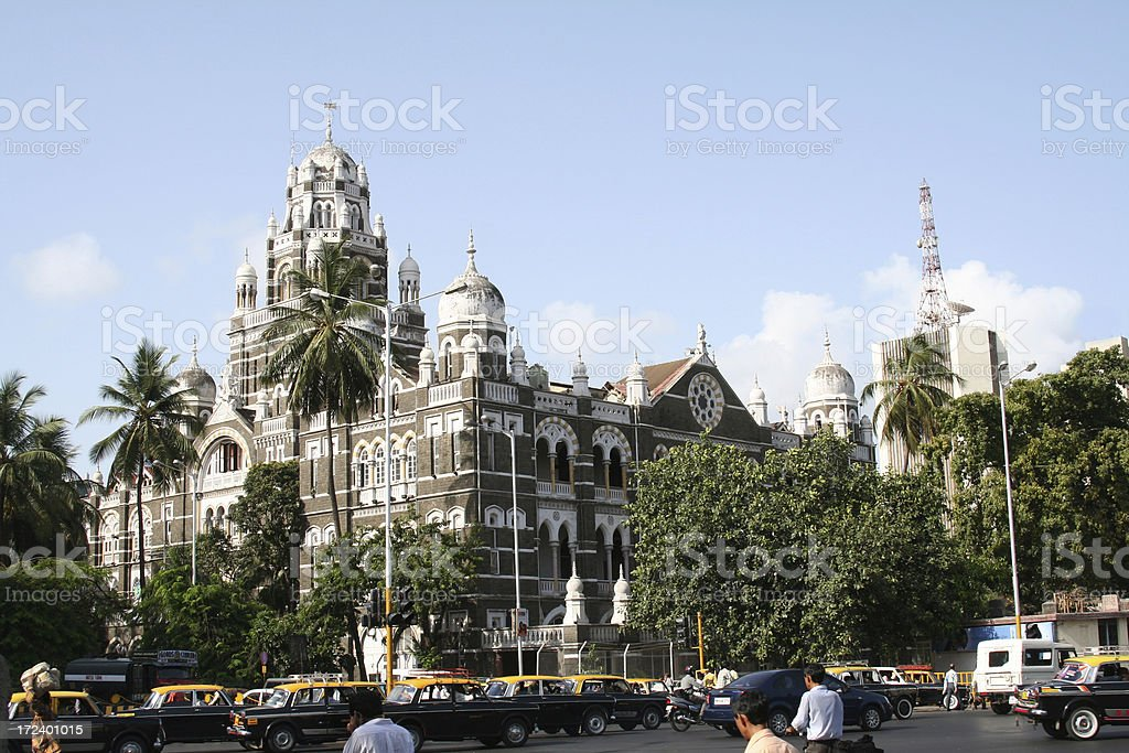 Western Railway Headquarters, Mumbai. stock photo