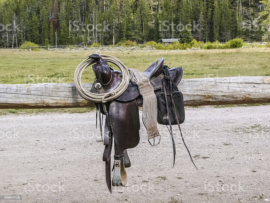 Western soporte y engranajes - foto de stock