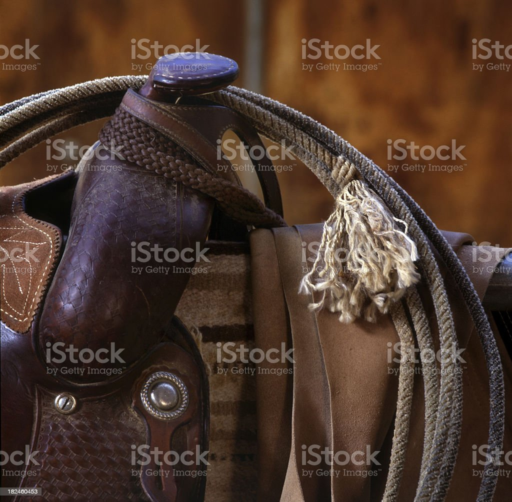 Western Soporte y cable. foto de stock libre de derechos
