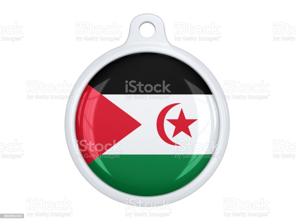 Western sahara medal stock photo