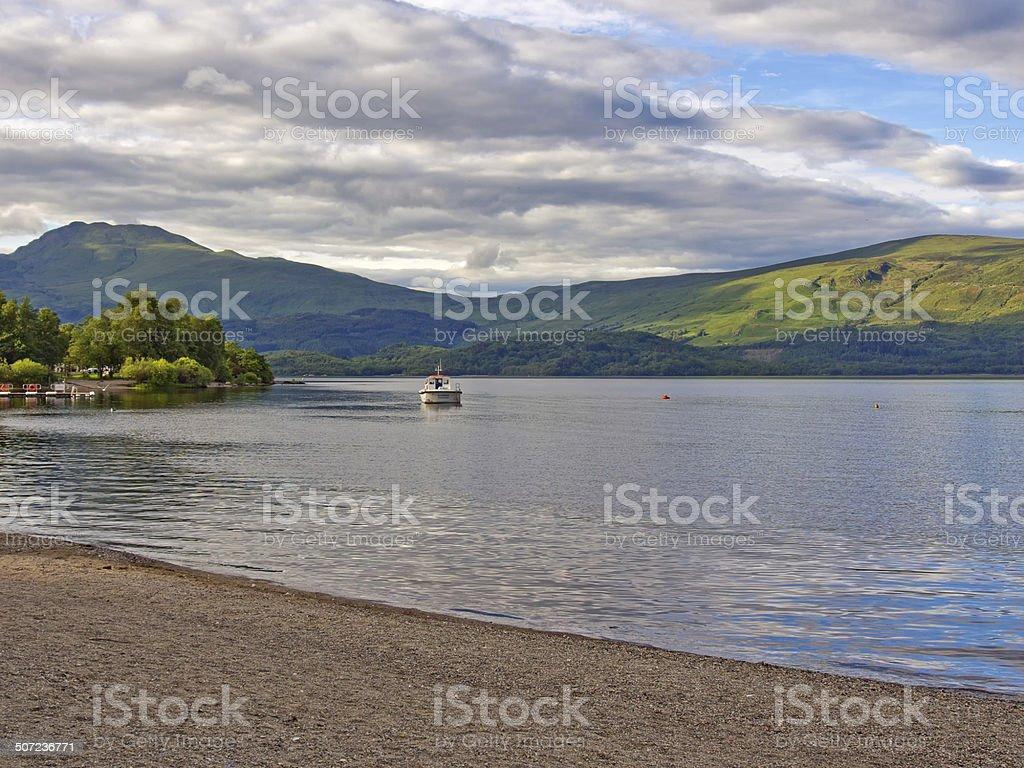 Western shores of Loch Lomond stock photo