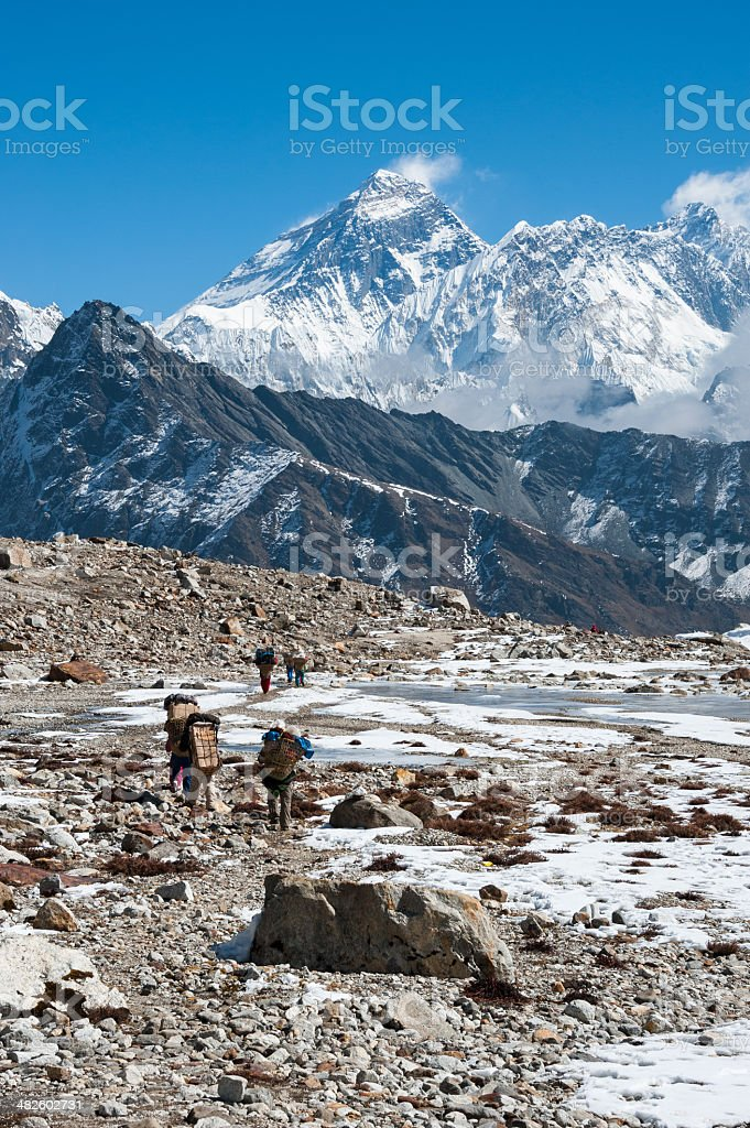 Western side of Mount Everest, Nepal royalty-free stock photo