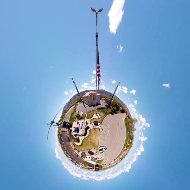 Western Slope Vietnam Memorial, Tiny Planet View stock photo