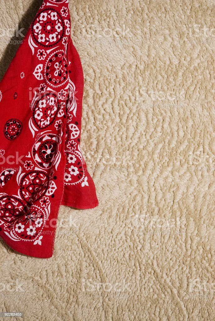 Western template displaying a red bandana royalty-free stock photo