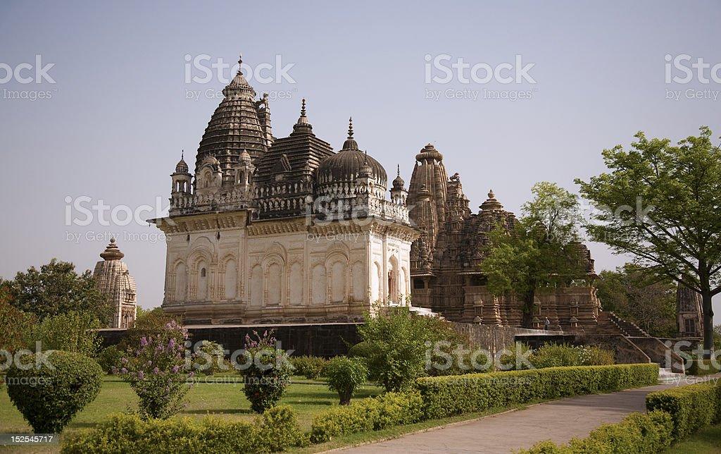 Western temple Group in Khajuraho, India royalty-free stock photo