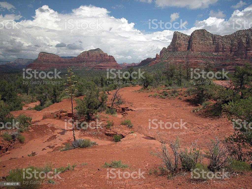 Western terrain near Sedona, Arizona stock photo