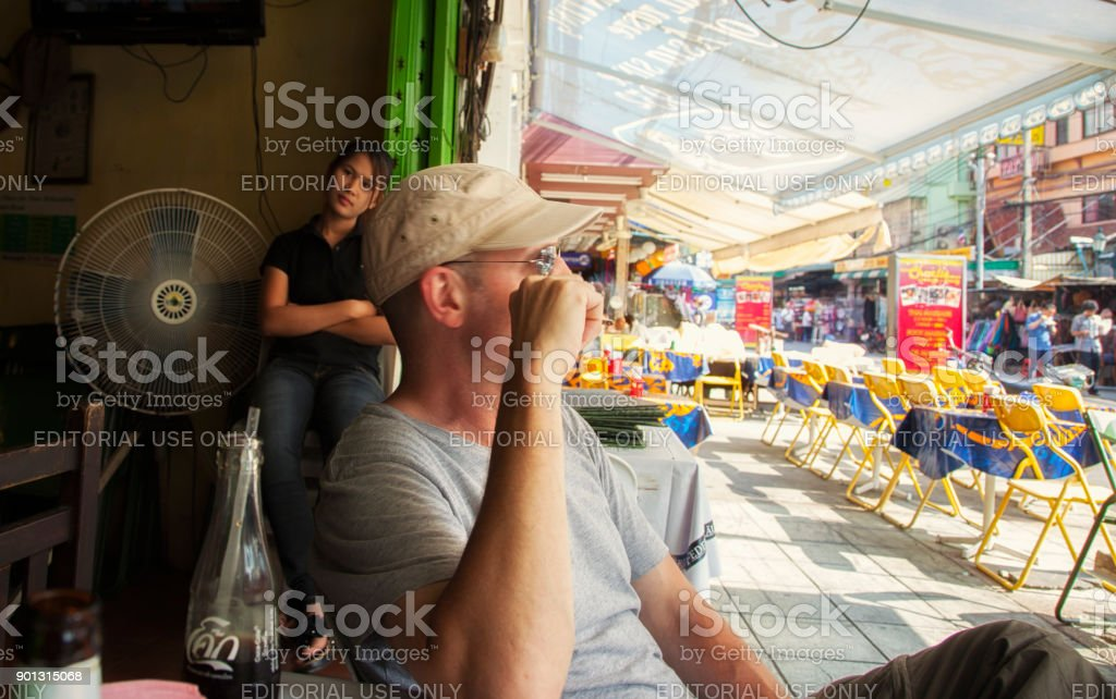 Western Tourism in Thailand stock photo