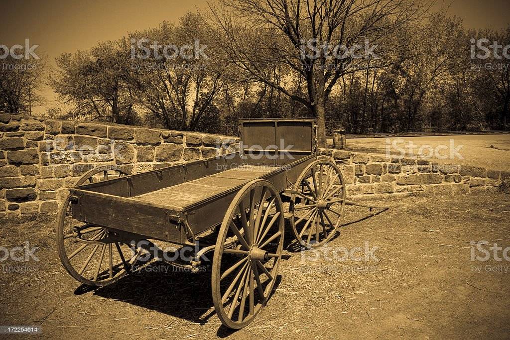 Western Wagon royalty-free stock photo