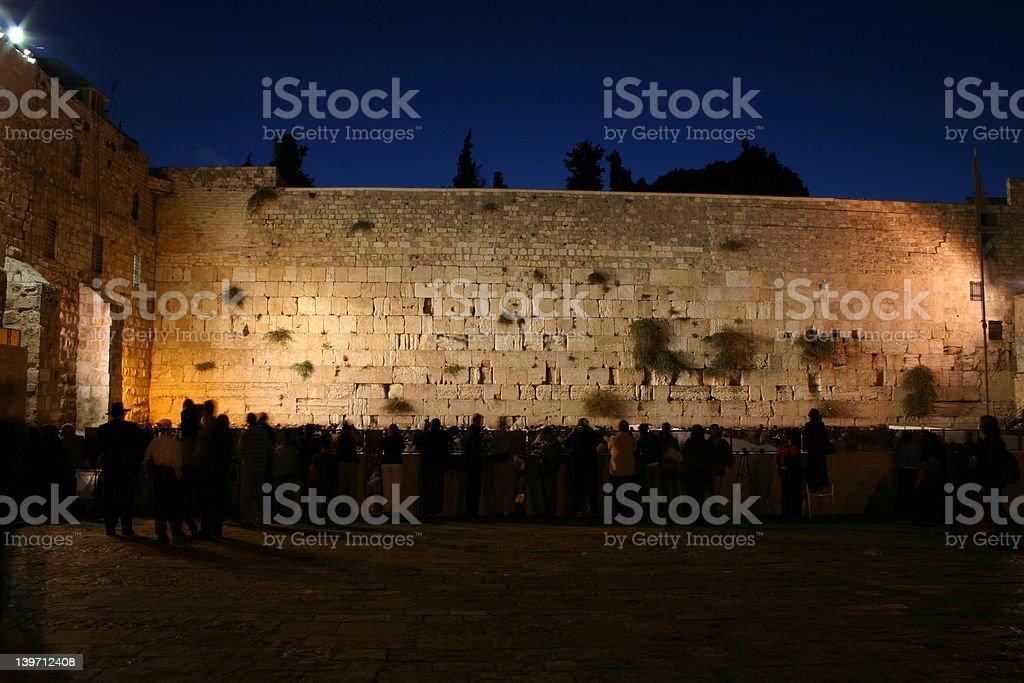 western wall at dawn stock photo
