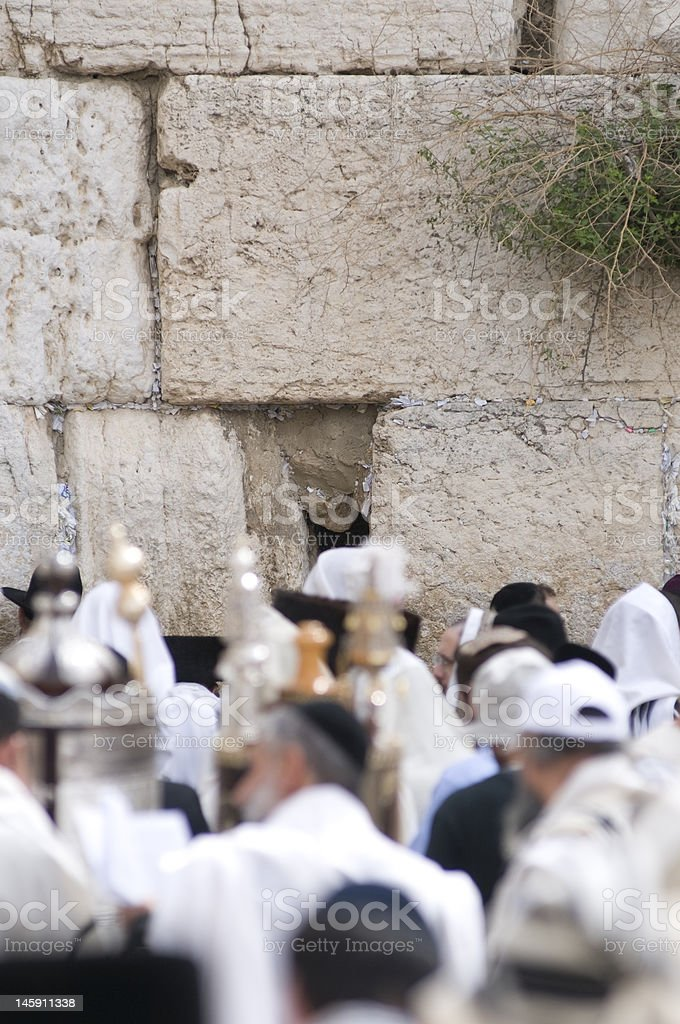 Western wall during passover royalty-free stock photo