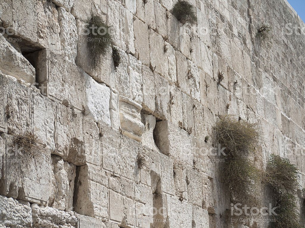 Western Wall in Jerusalem Israel royalty-free stock photo