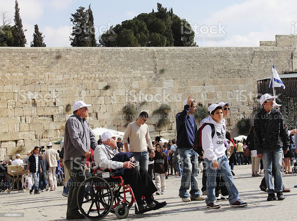 Western Wall in Old City of Jerusalem royalty-free stock photo