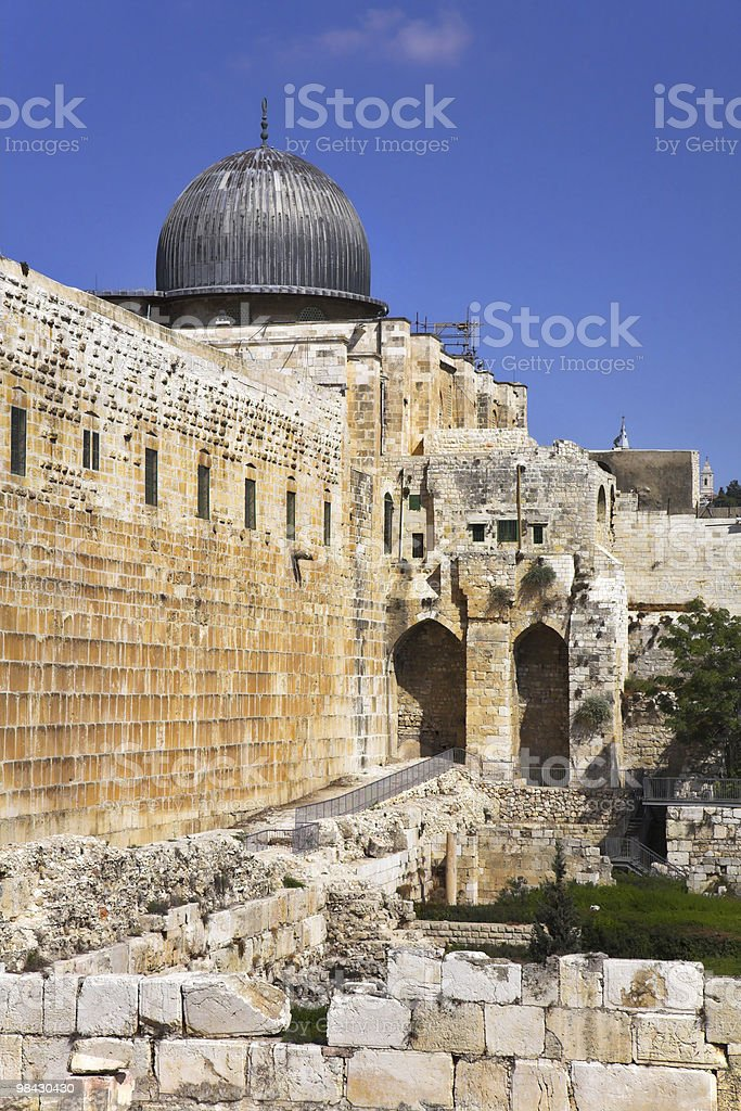 western wall of the Temple in Jerusalem royalty-free stock photo