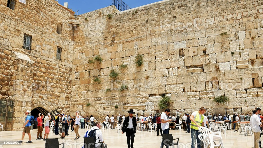Western wall or Wailing wall or Kotel in Jerusalem stock photo