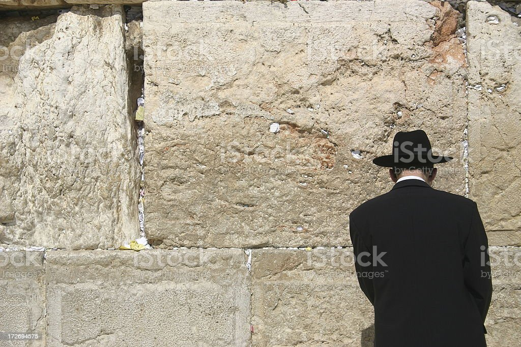 Western Wall Prayer royalty-free stock photo
