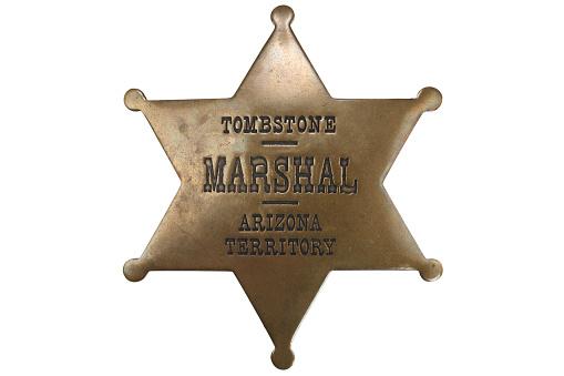 istock Western-style sheriff badge 918304218
