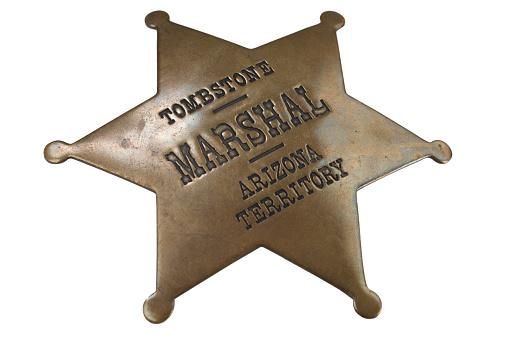 istock Western-style sheriff badge 918304290