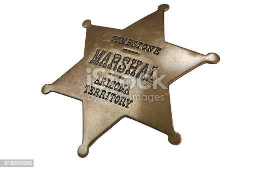 istock Western-style sheriff badge 918304550