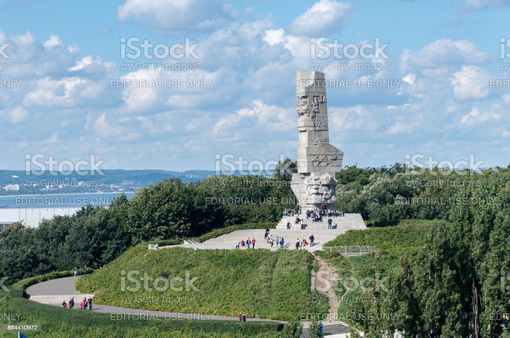 Westerplatte Memorial in Gdansk, Poland stock photo