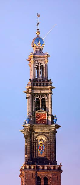 westertoren, amsterdam, the netherlands (xxxl) - westerkerk stockfoto's en -beelden