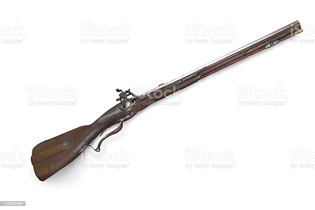 west-european rifled carabine (short rifle) of 18th century royalty-free stock photo
