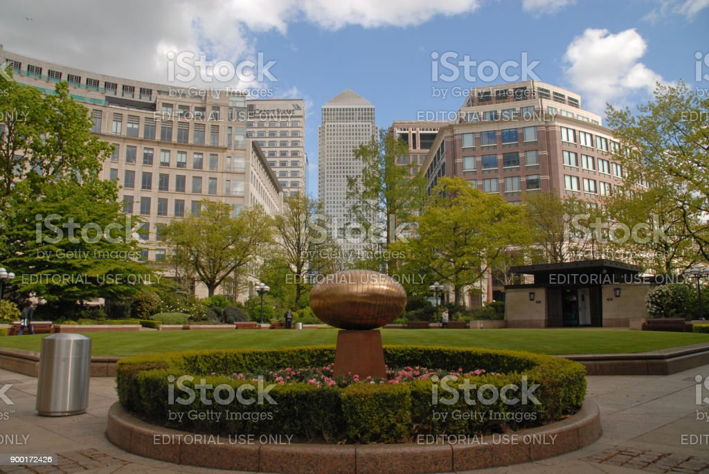 Westferry Circus in Canary Wharf stock photo