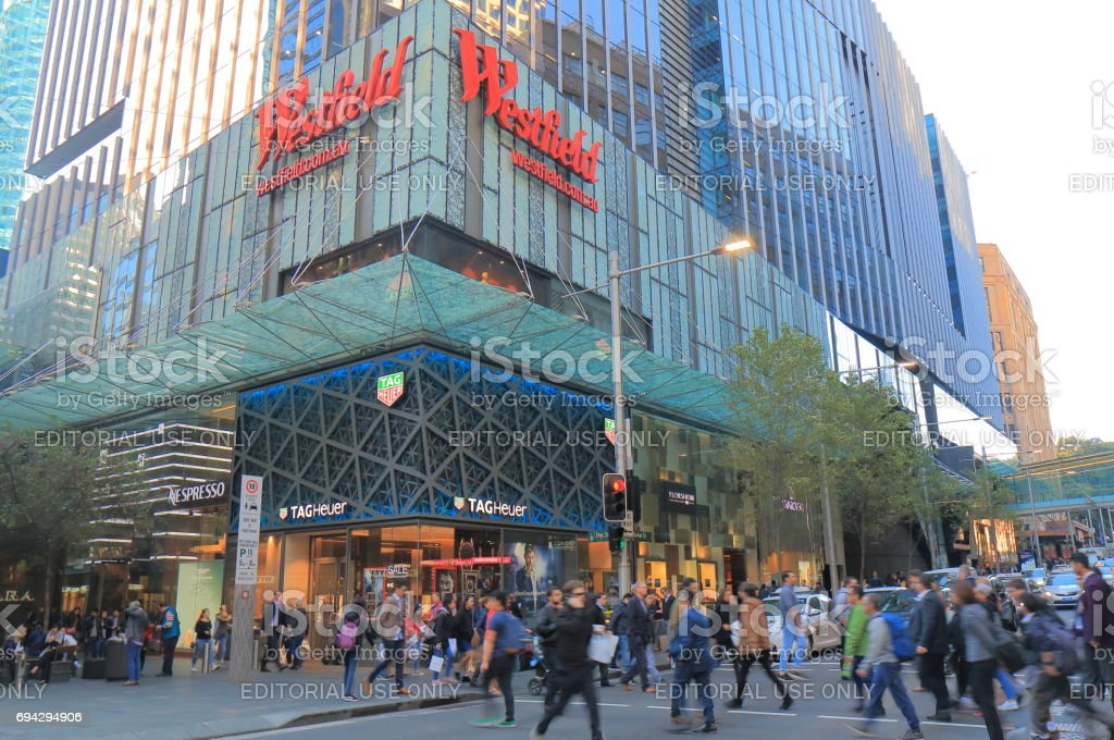 Westfield department store shopping Sydney Australia stock photo