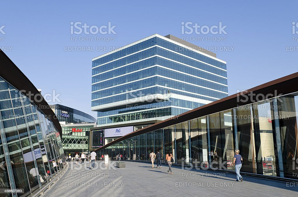 Westfield shopping centre entrance, London royalty-free stock photo