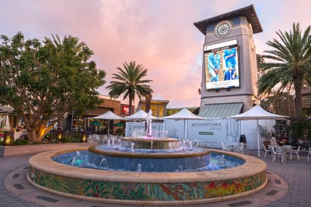 Westfield Shopping Mall Courtyard UTC San Diego stock photo