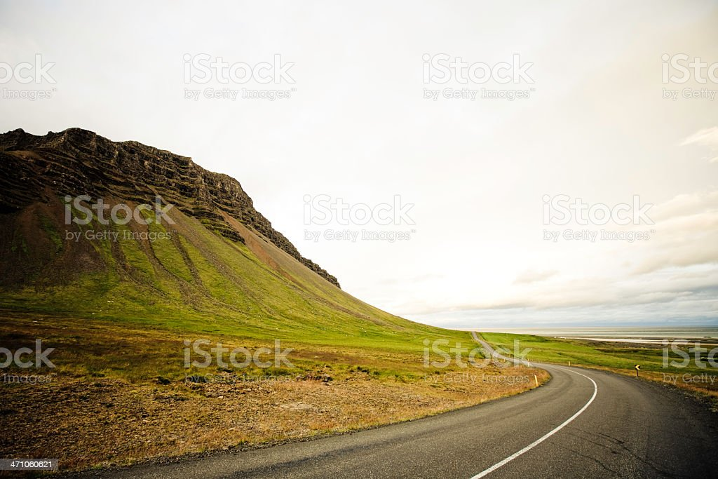 Westfjords Country Road - Iceland royalty-free stock photo