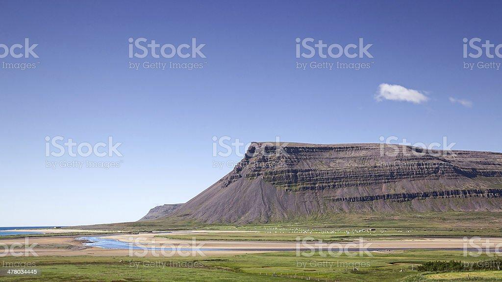 Westfjords landscape. Iceland. royalty-free stock photo