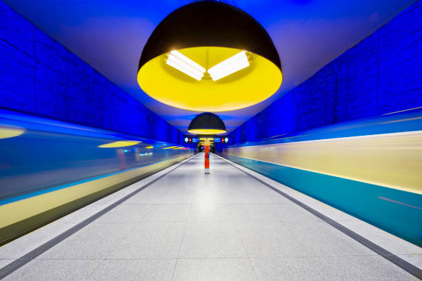westfriedhof tunnelbanestation i münchen, tyskland - munich train station bildbanksfoton och bilder