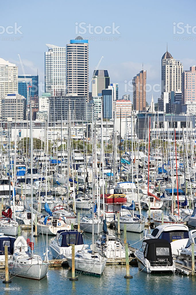Westhaven Marina, Auckland royalty-free stock photo