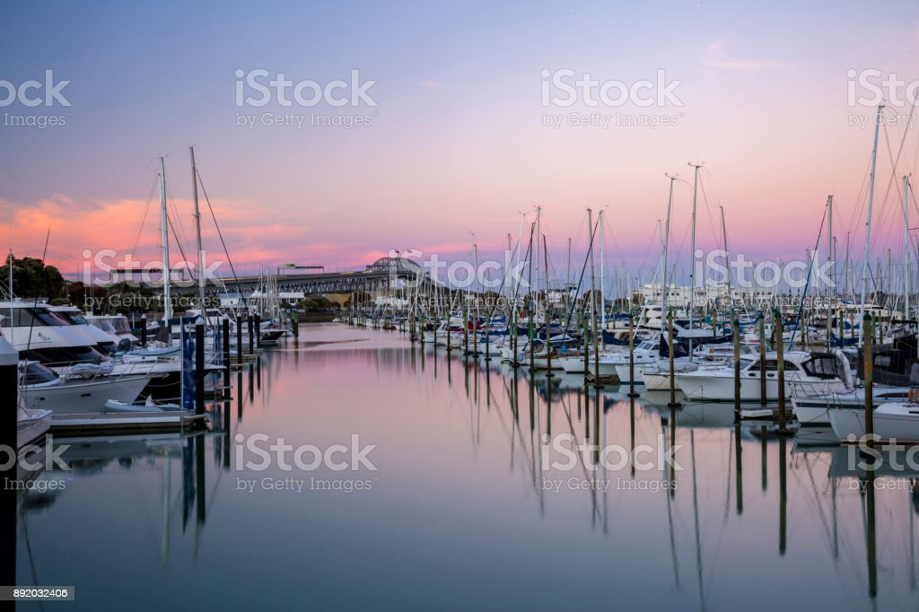 Westhaven Marina stock photo
