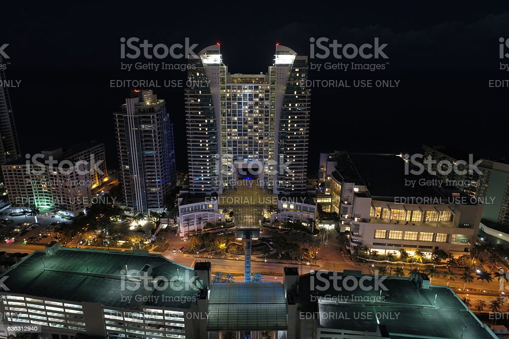 Westin Diplomat hotel Hollywood Beach stock photo